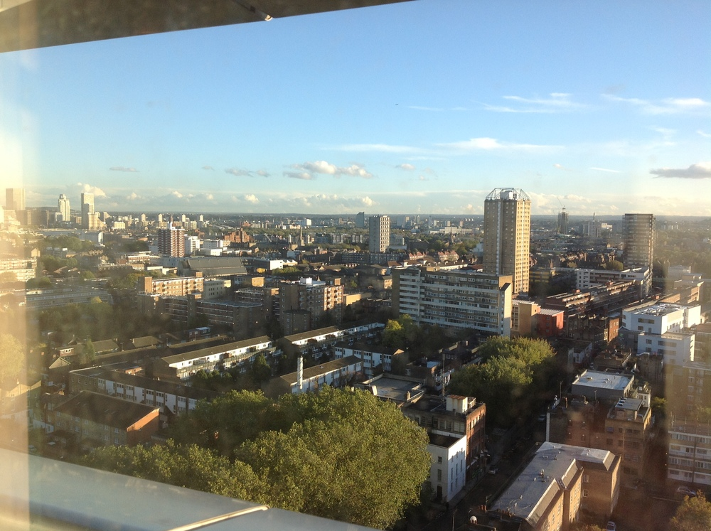 This was the view from my hospital window, feeling in prison for weeks I would look out to London, the trees, the clouds in the sky wishing and waiting and wishing to leave but not knowing if I would ever?  I appreciated every little part of the view (and became very familiar with it!).  Namaste :)