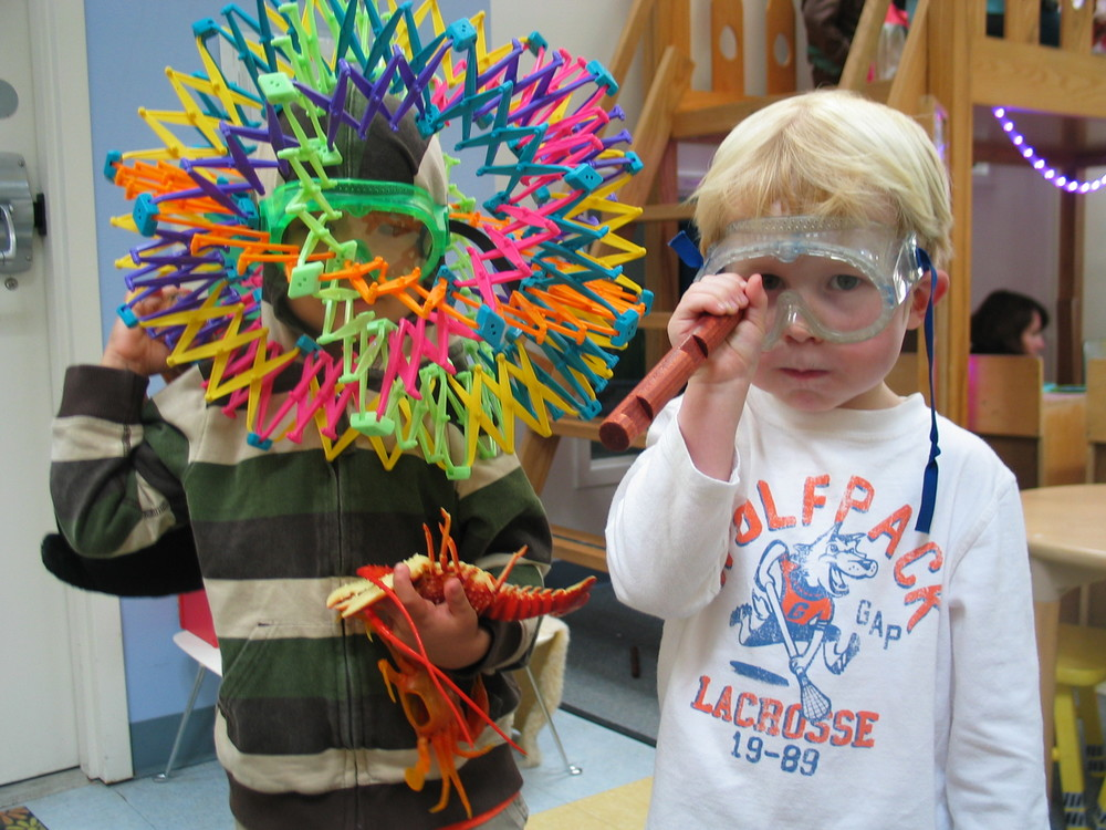 Children are given many opportunities to build, invent and create with a variety of materials.