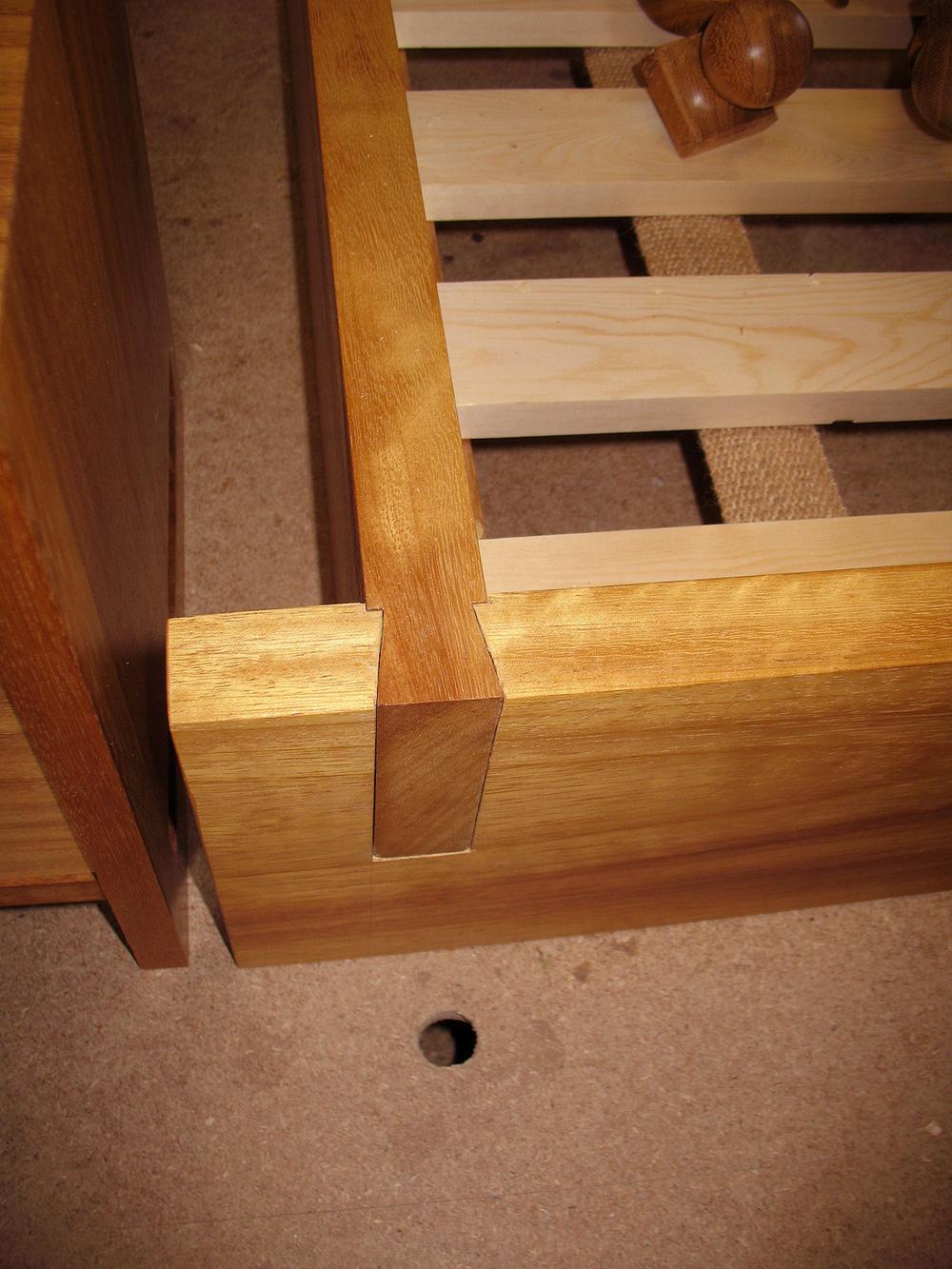 Solid Iroko Handcrafted Bed Handmade Bespoke Bedroom Furniture