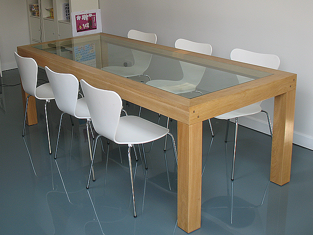 Glass And Oak Dining Table Set Images - Dining Table Set Designs