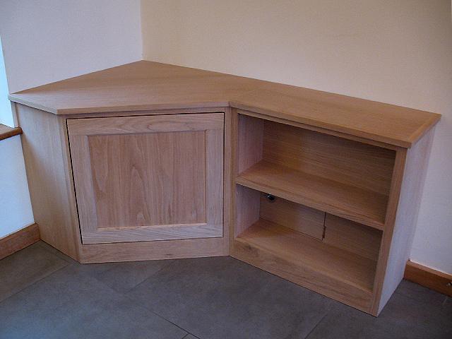 Oak Corner Media Unit   Bespoke Handmade Living Furniture, Brighton, Sussex