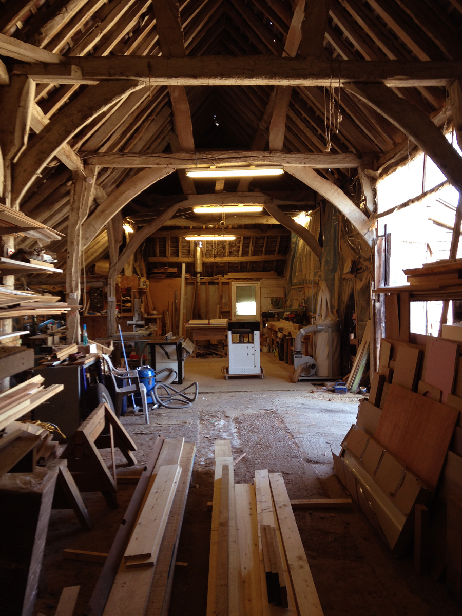 Timber stock in workshop