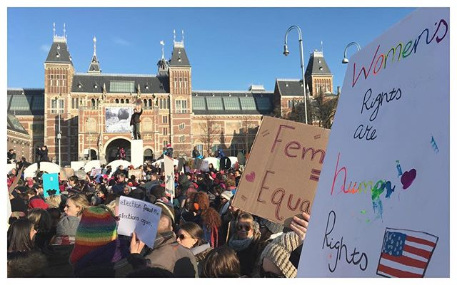 Women's march amsterdam #womensrights #notrump #obama