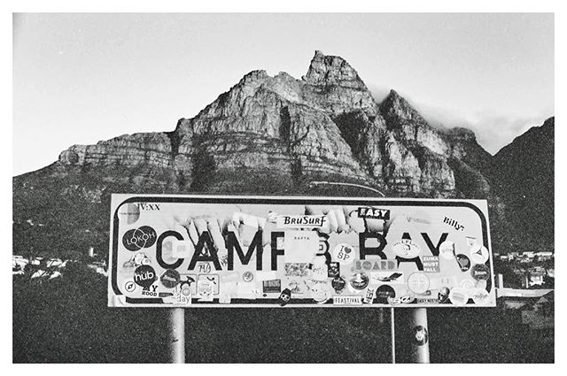 Camps bay sign. January 2018 #analogphotography #canon #ae1 #instablackandwhite #film #photography