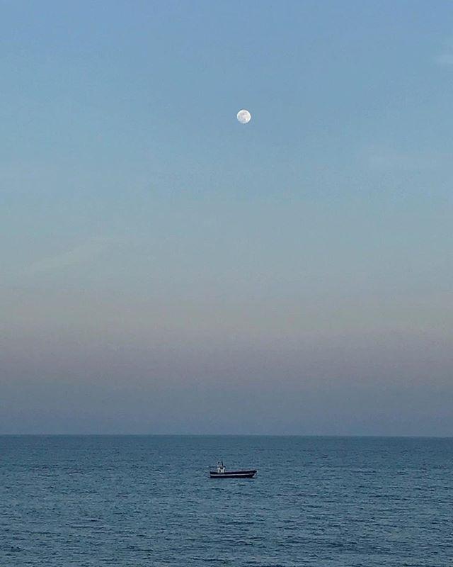 Fishing boat in calella #april #2018 #vacay #sea #moon