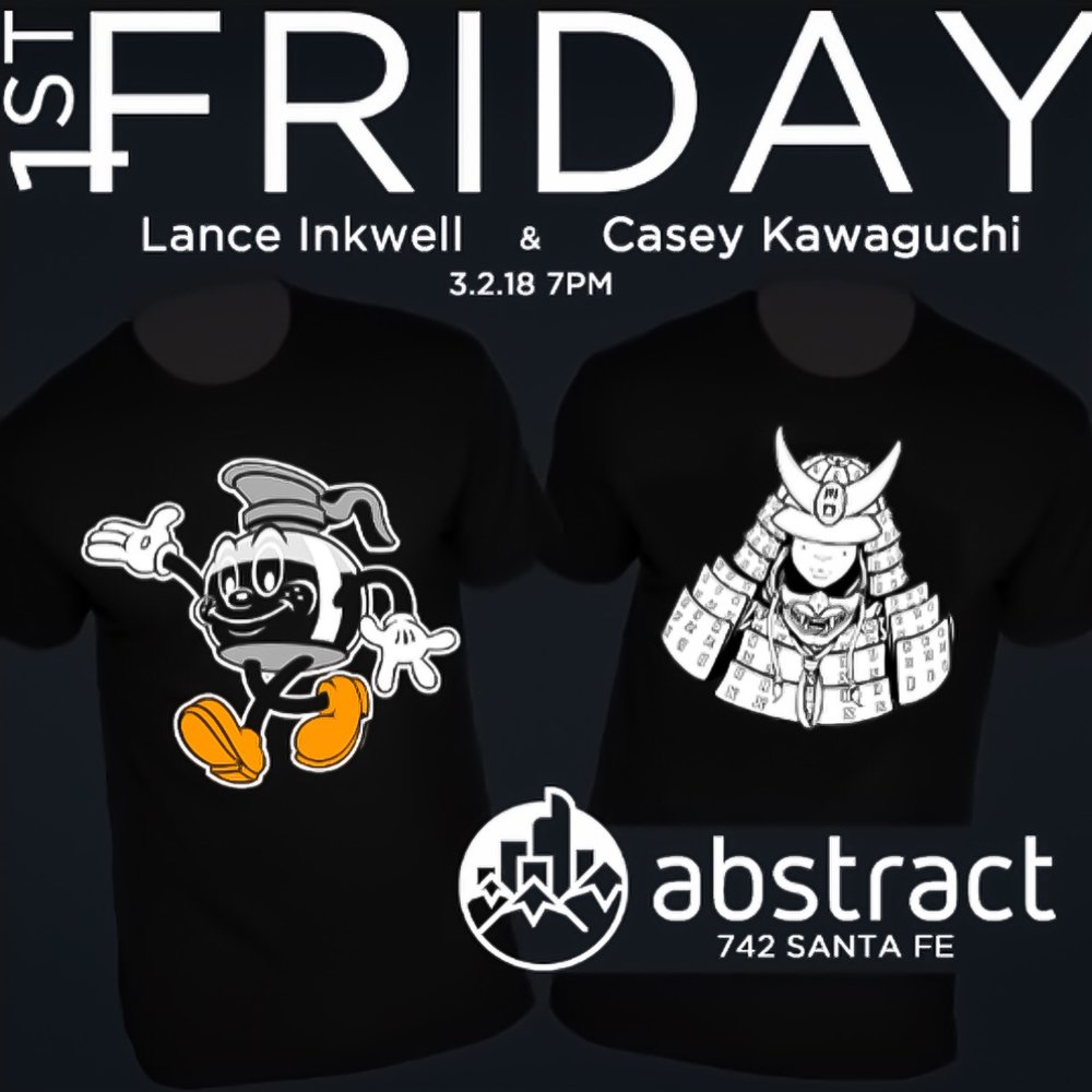Abstract Denver Artist Collaboration Shirts