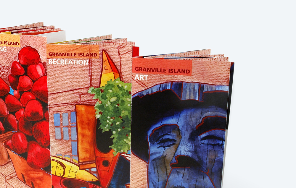 GRANVILLE ISLAND  /  brochure design & illustration