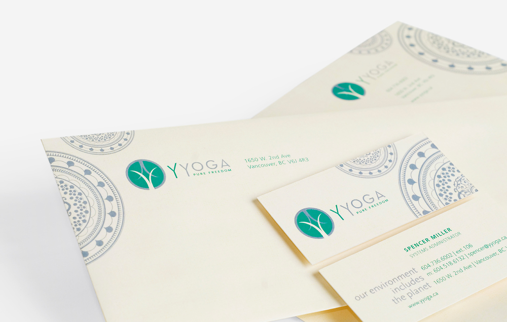 YYOGA  /  stationery package  /   studio credit : Traction Creative Communications