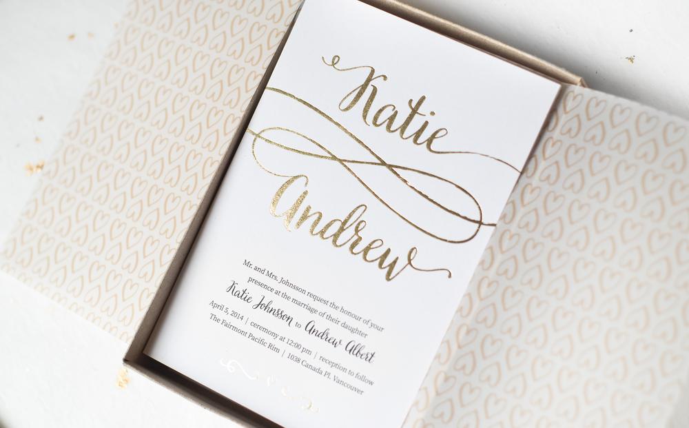 KATIE & ANDREW / wedding invitation