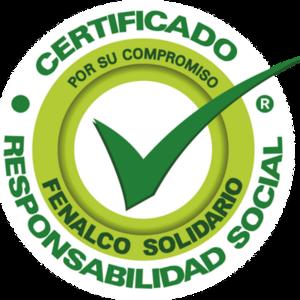 Nuestra empresa ha recibido el sello de Fenalco Responsabilidad Social Empresarial por nuestro compromiso con la sociedad y el planeta, a lo largo del tiempo.
