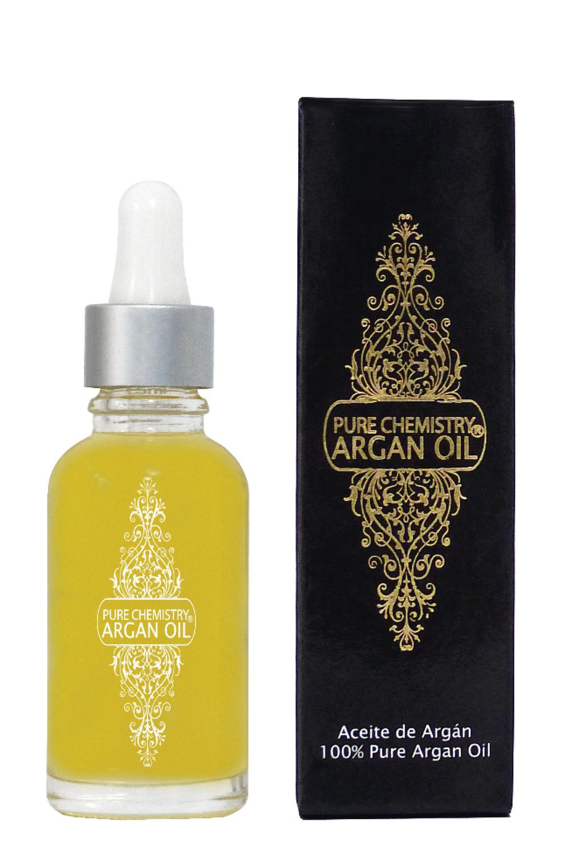Aceite de Argan Pure Chemistry® Virgen Dermatologicamente Probado - 30 mililitros ( más de 1000 gotas) - usando una gota diaria para los dos contornos de ojos, te durará muchisimo.