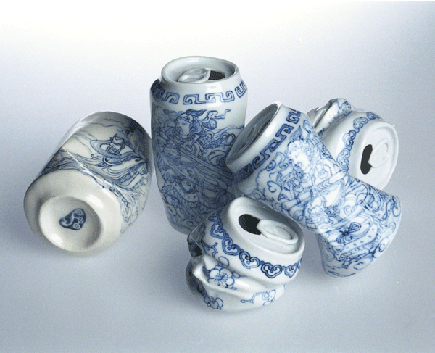 A ceramic work by Lei Xue