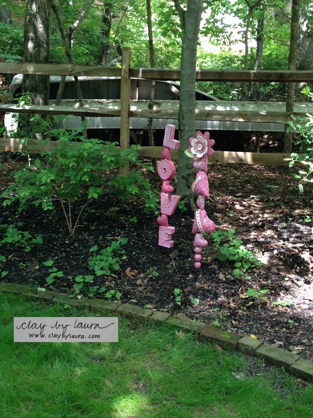 The placement and message of these totems were made to encourage the proper 'chi' to this home and garden.