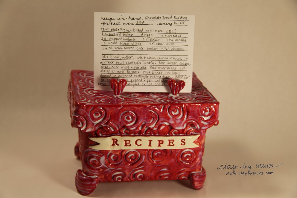 Oh! And I had my first ETSY sale this week! A recipe box similar to this now resides in Colorado!