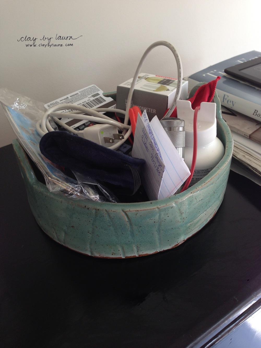 Bowls can help de-clutter.