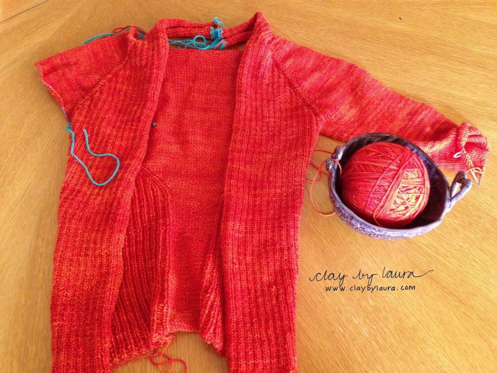 Here's my current knitting project. I have another one waiting in the wings which is good incentive to keep knitting!