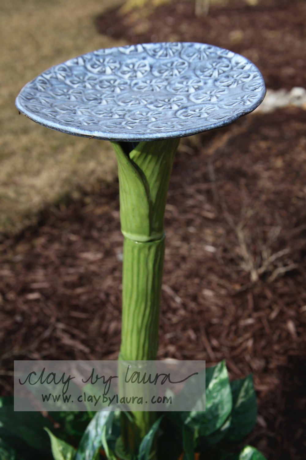 The butterflies and birds will appreciate a drink and quick dip in this birdbath totem.