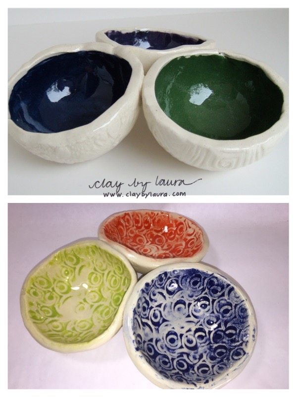 I've been experimenting with washing away some of the color underglaze on the textured surface of my pieces. I copied the shape I originated in my Potomac, Md. studio many years ago and played with texture and color in this updated version. I like the results.