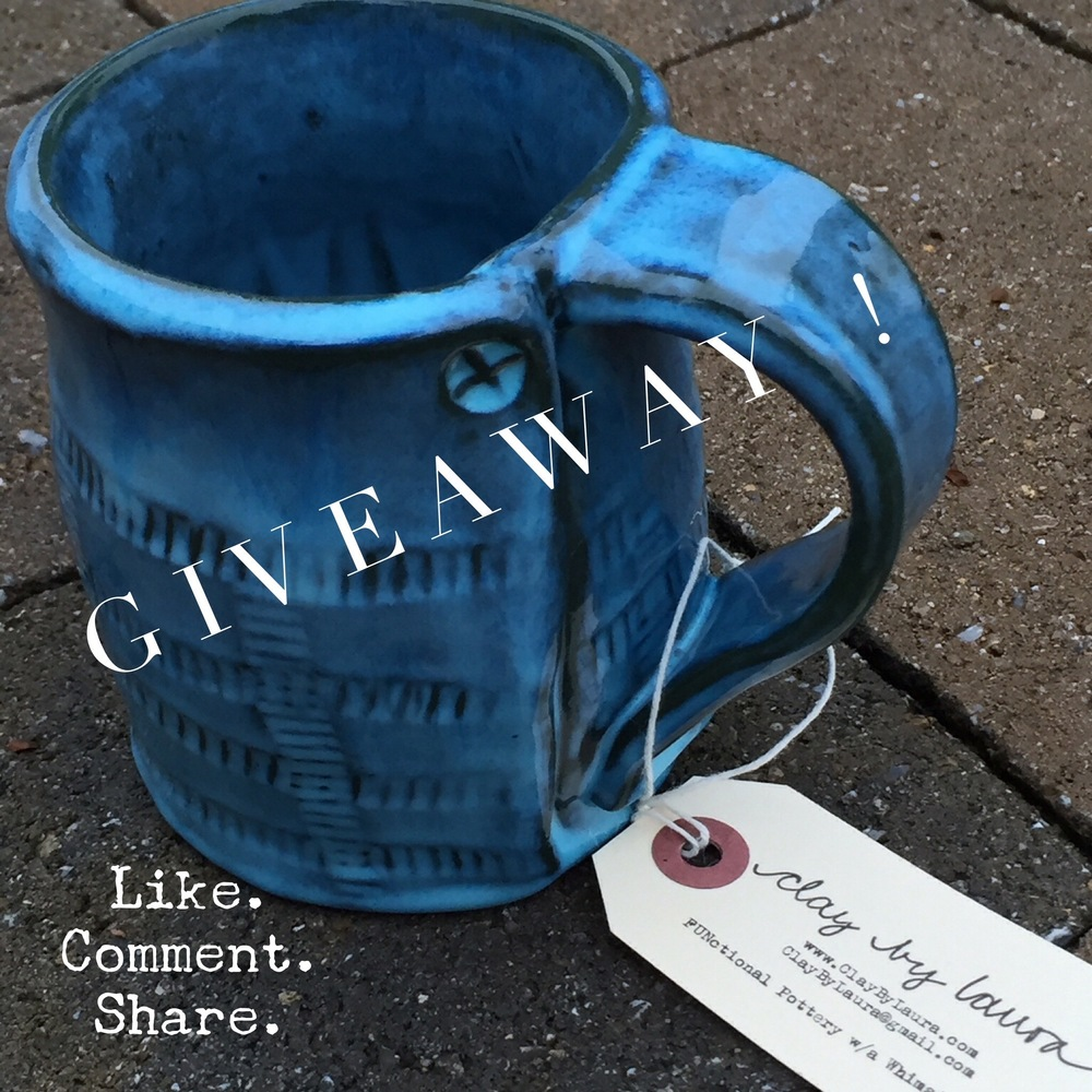 Enter to win this green/blue mug! It's my gift to you!