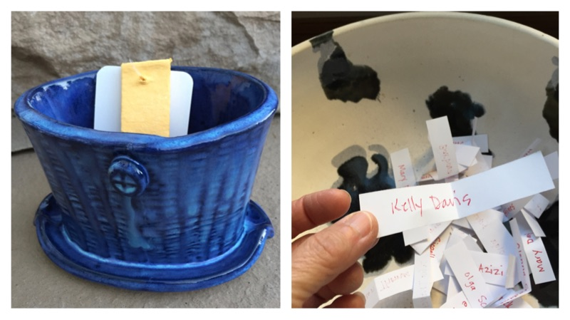 Here's one way I 'spread the love' from my studio! ClayByLaura Club member Kelly Davis just won this sponge caddy. Want to have a chance to receive a gift from the studio? It's easy. Click  here  to sign up!