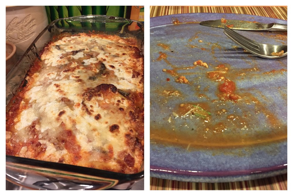 I tried out a new recipe that was shared with me for my favorite Eggplant Parmesan this past week.. That simple act of kindness fed my tummy and my soul!