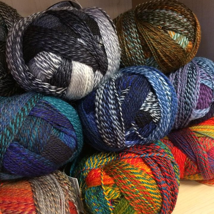 A wide array of scrumptioussock and fingering weight yarns