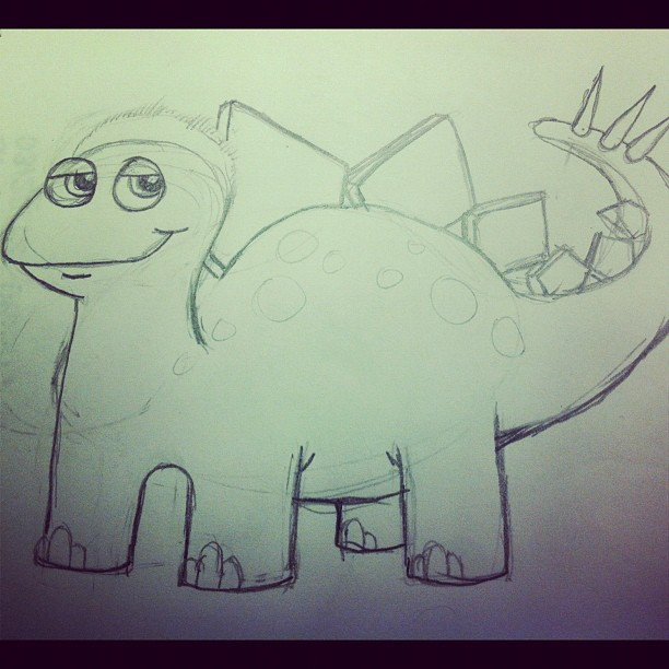 Drawing Dinos (Taken with  instagram )