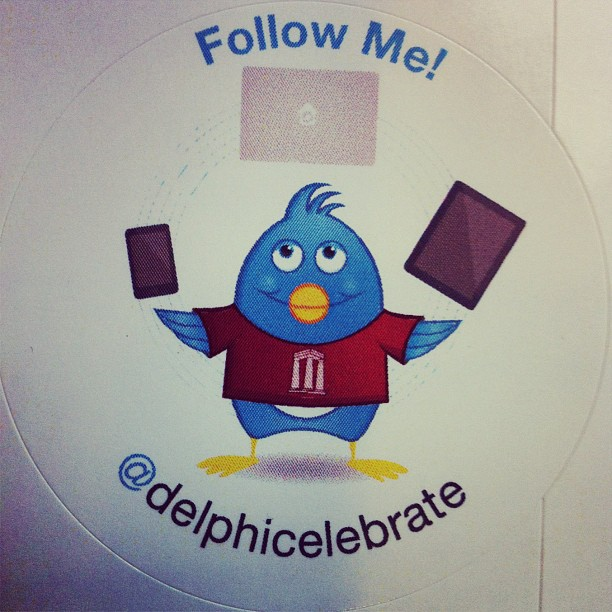My twitter juggler illustration on stickers for a conference (Taken with  instagram )