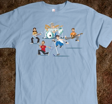 Early mock up of the 311 Character tee.