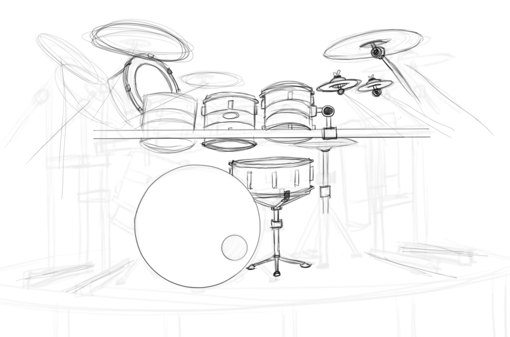Sketching out Chad's kit.