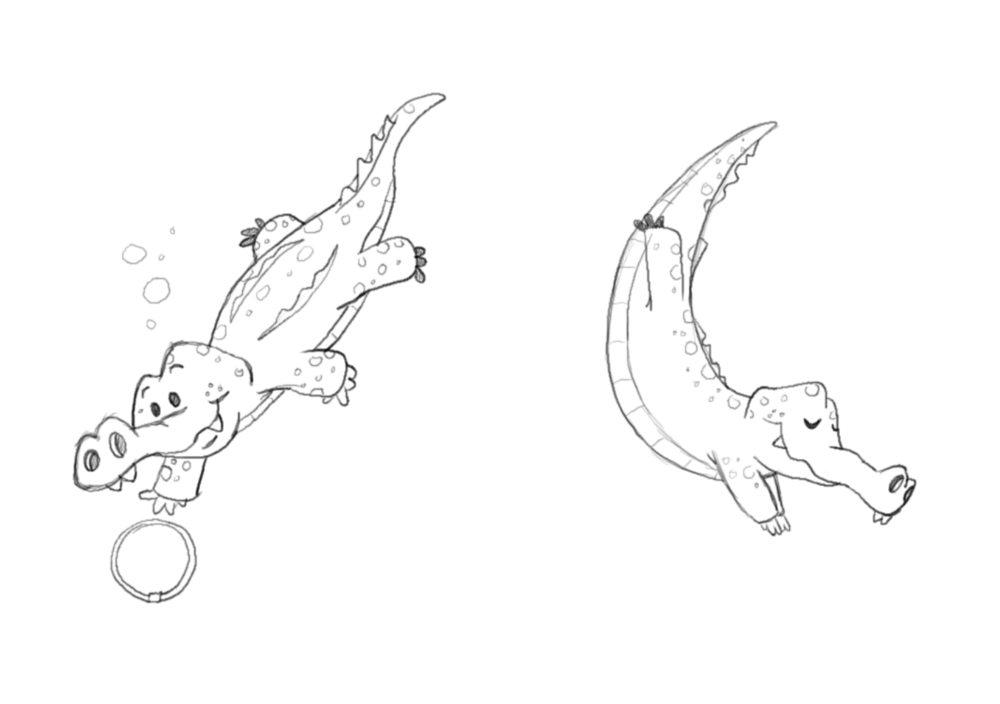 Some refined gator sketches.