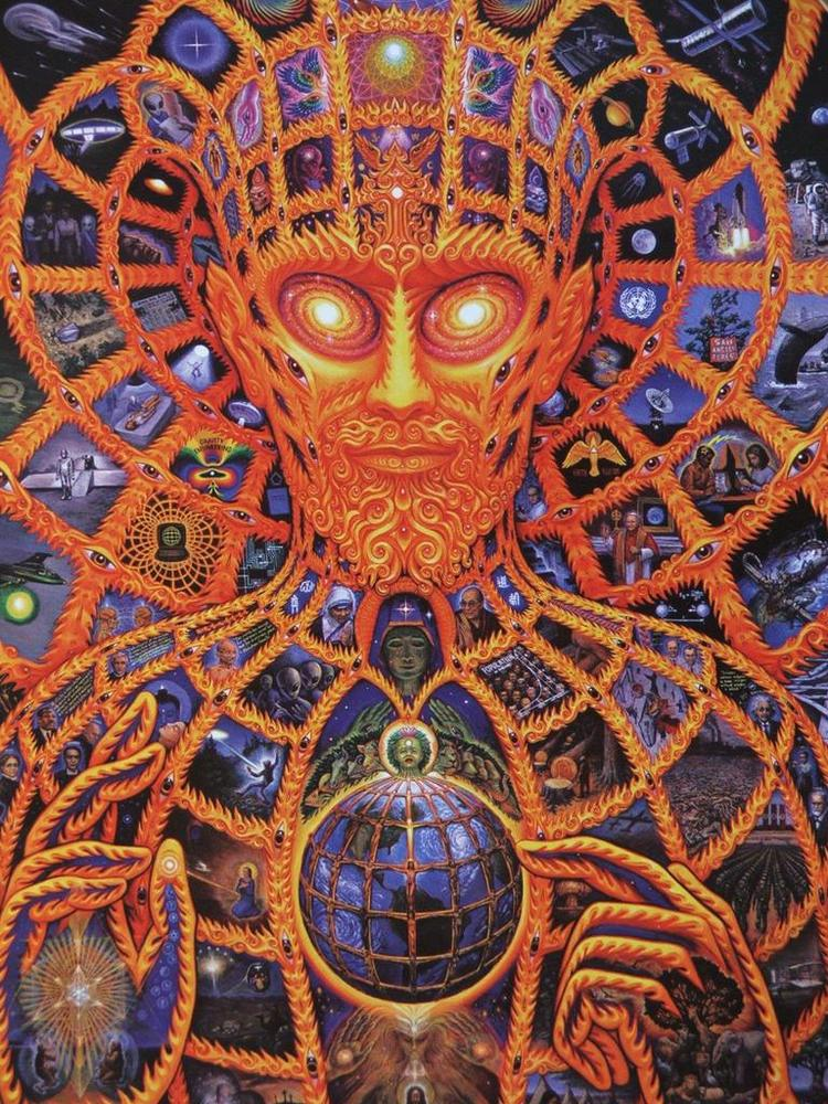 Painting by Alex Grey - Click to visit the Sacred Hall of Mirrors!