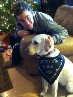 Mitchell VonPuttkammer and Roxy - Allison found and trained Roxy for the family.jpg