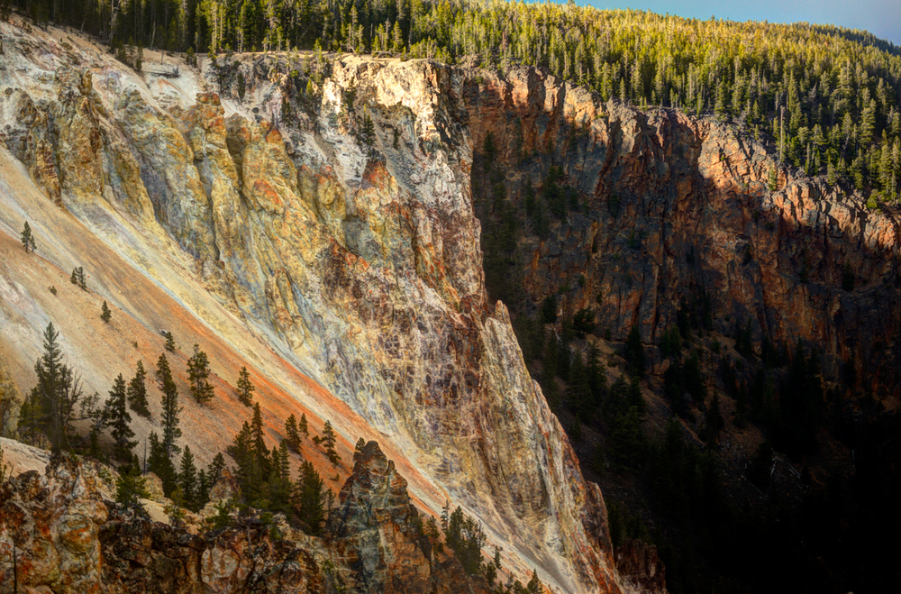 The Grand Canyon of Yellowstone offers many different and beautiful views, try a few different ones.