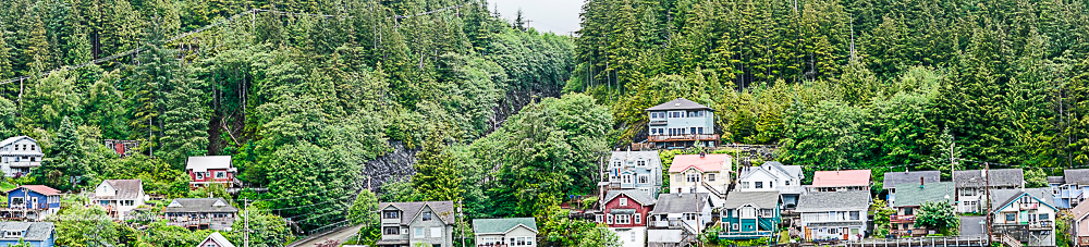 Ketchikan is one of the rainiest places on Earth. It rains over 300 days a year and they have had over 200 inches of rain in one year. We were asked if it rained the day we were there, yes of course. It did not last the entire day.