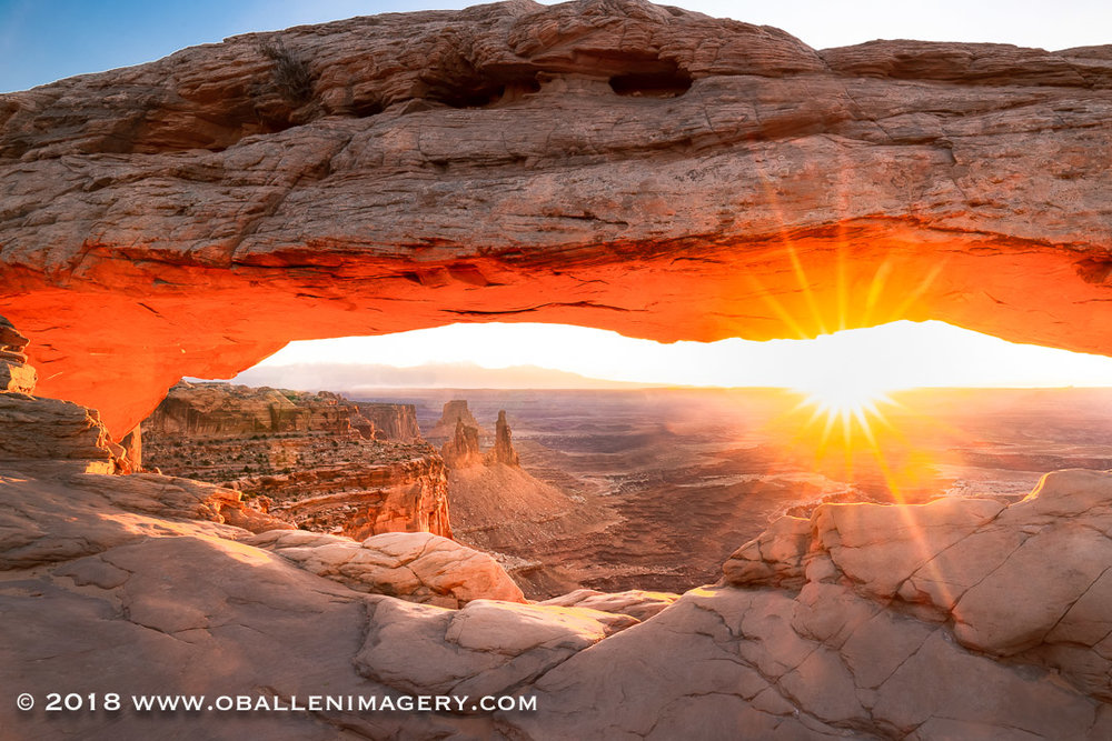Mesa Arch full sun star.