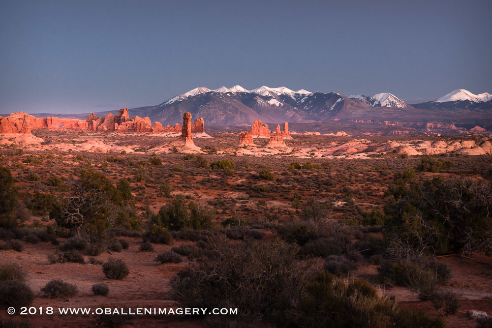 A view toward the window section of Arches National Park.
