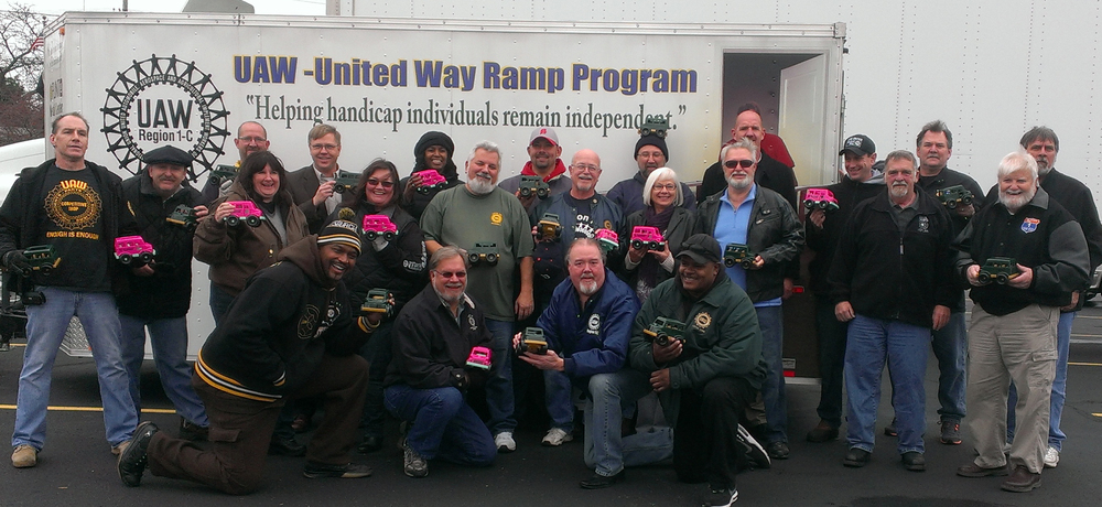 December 16–Over 20 volunteers from Local United Ways and Labor Unions worked hand in hand to unload 20,000 toy trucks that were distributed to children in need throughout the State of Michigan.