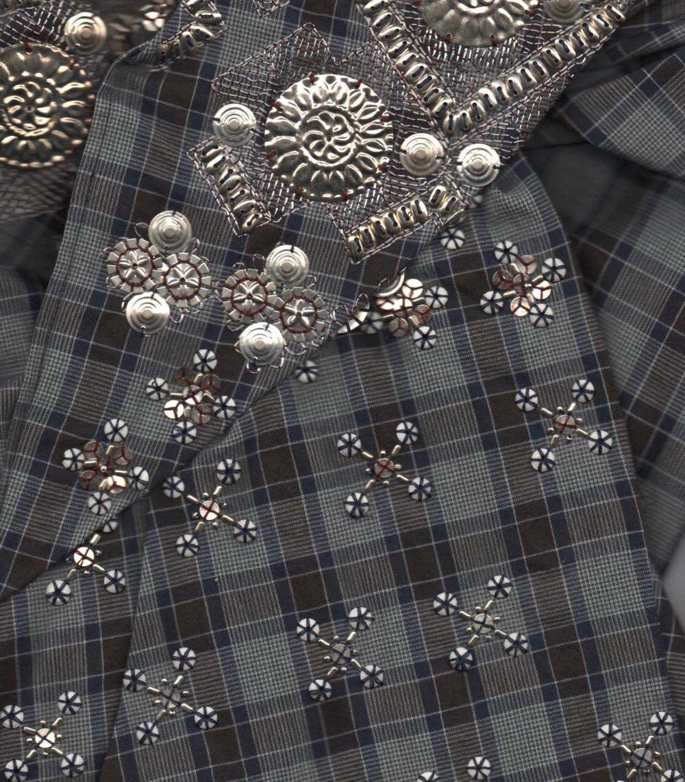 detail of Dries Van Noten shirt