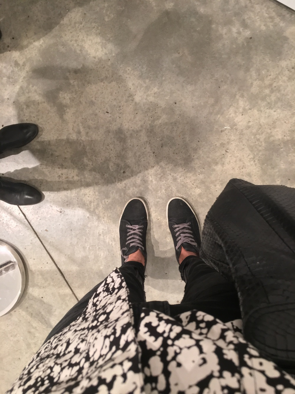 Lurex + Denim Lanvin shoe selfie ...