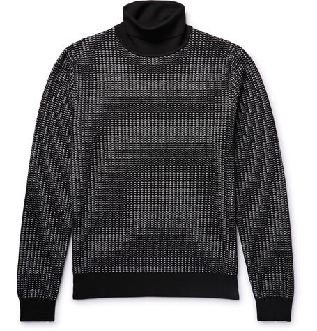 Berluti - Textured Knit Rollneck from MR PORTER