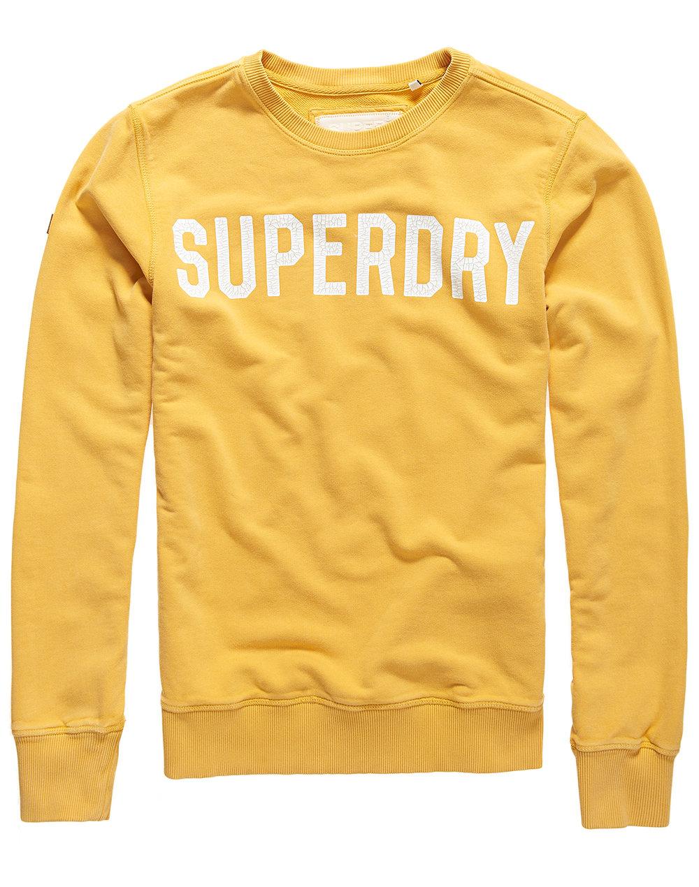 Superdry Solo Sport Crew Neck Sweatshirt - Gold - £44.99.jpg