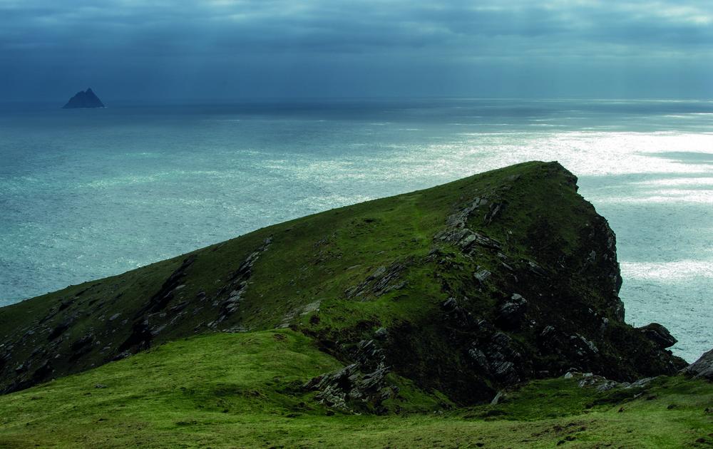 Blick vom Breay Head / Valentia Island auf Ekelig Michael. Foto by Eric Berger