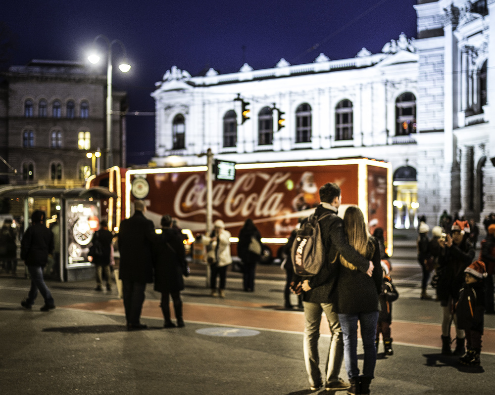The Coca Cola Chrismas Truck Vienna 2014 by Eric Berger