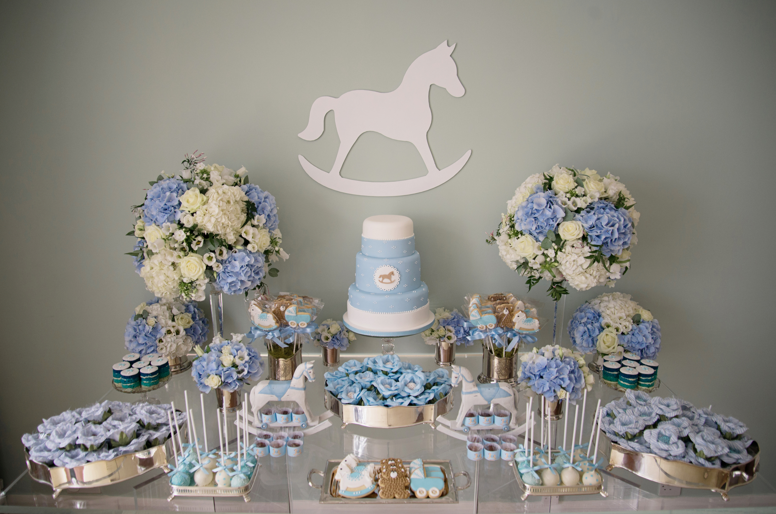Elegant Boy Baby Shower