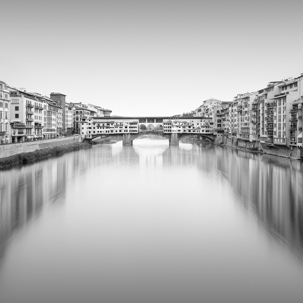 ponte-vecchio - florence, italy, 2016   LIMITED EDITION OF: 50  IMAGE SIZES AND PRICES (PRINT ONLY / FRAMED):  30x30 - £145 / £225 - £255  45x45 - £195 / £290 - £335
