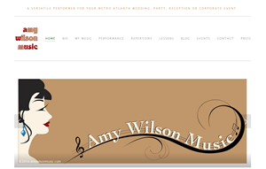 Amy Wilson Music site with its new look, thanks to my cousin, Trina Wilson, of  Wilson Graphic Designs in Carrollton and sister Ellen Wilson, a freelance writer and graphic artist.