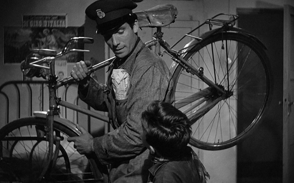 a brief summary and neorealism in the bicycle thieves by de sica Two films from the neorealism movement are bicycle thieves (1948) and umberto d (1952) both directed by vittorio de sica both films in their own way show the real-life hardships that were faced during this time of poverty and more particularly show it from the point of view of normal everyday people.