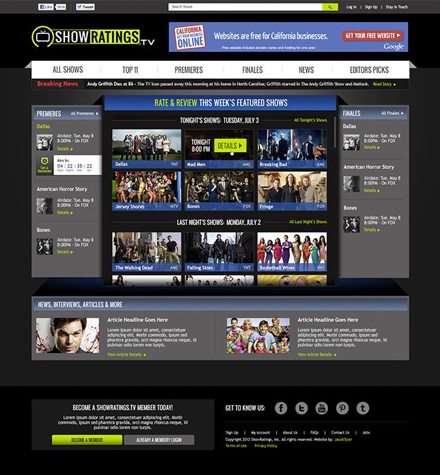 Showratings.TV - Homepage