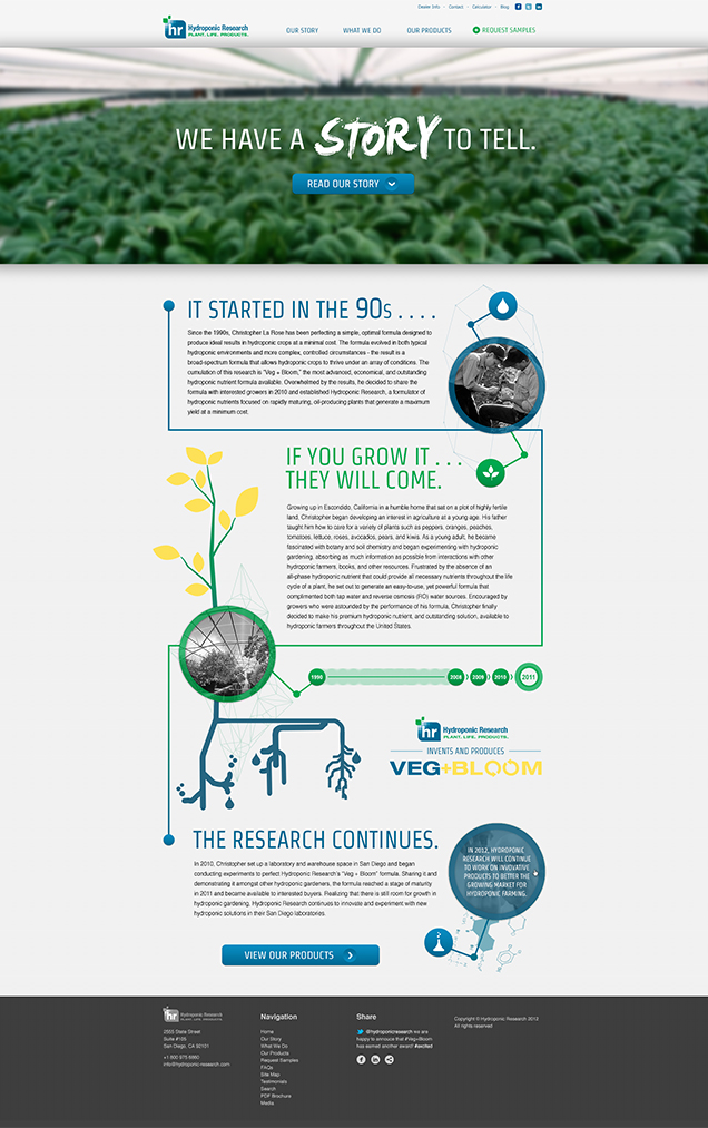 Hydroponic Research - About Page Design